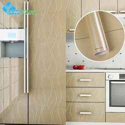 New Golden Paint Silver Lines PVC Decorative Stickers Heat Transfer Vinyl Film Furniture DIY Self adhesive Wallpaper for Kitchen
