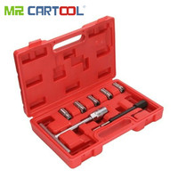 MR CARTOOL 7Pcs Diesel Injector Seat Cutter Diesel Injector Seat Cutter Cleaner Set Universal Injector Re Face Tool Kit