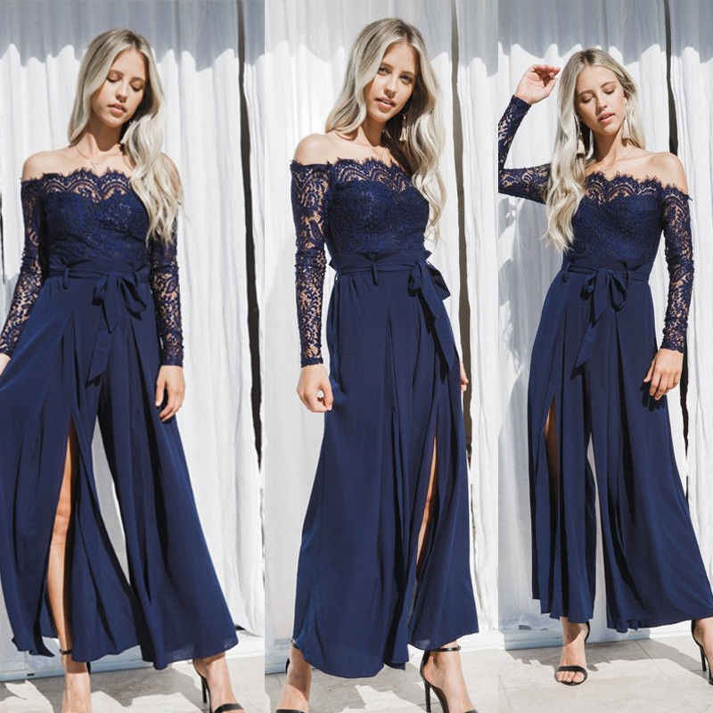 3cef67ac0507 2018 Summer New Style Fashion Women s Bohemian Long Party Solid Cocktail  Lace Wedding Beach Maxi