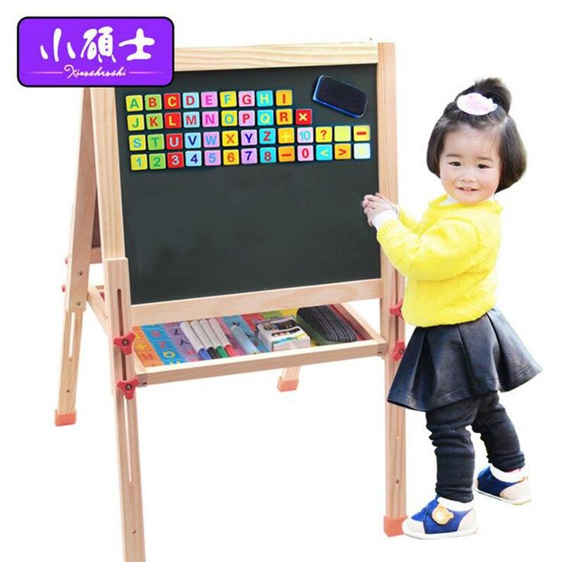 Double face en bois de haute qualité planche à dessin magnétique pour enfants enfants apprenant l'éducation Puzzle jouets de développement intellectuel
