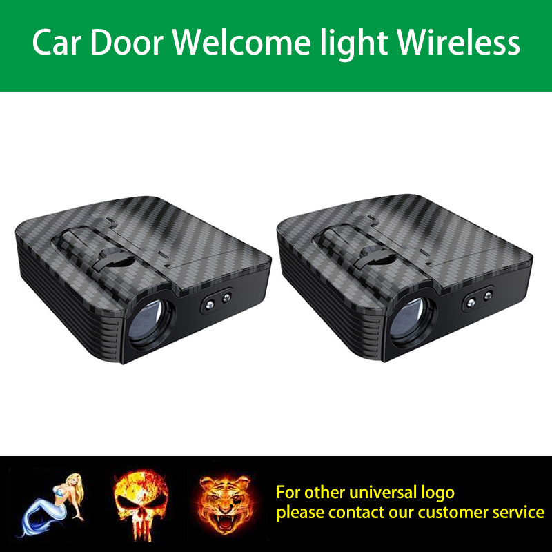1pcs Universal Wireless Car Door Welcome Logo Light Projector Led Laser Lamp For Audi Chevrolet Mazda Ford Bmw Toyota Volkswagen To Help Digest Greasy Food