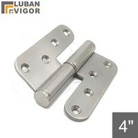 4 인치 분리형  l 자형 힌지 원형 코너 릴리스 hing  304 스테인레스 스틸  e  기계 장비 힌지  산업용 힌지|industrial hinges|hinge hingestainless steel hinges -