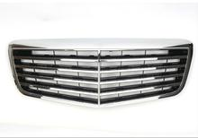 For Mercedes-Benz E-class W211 07 08 09 with Emblem ASSY Style Black/Silver Front Racing Grille