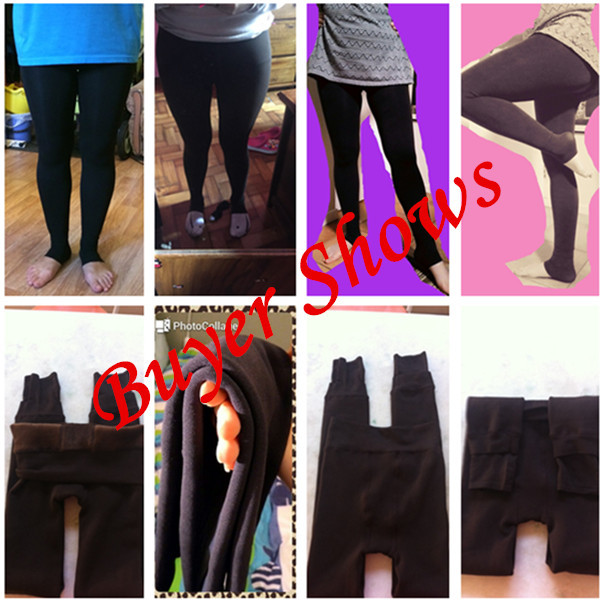 CHRLEISURE New Winter Thick Velvet Pants Female Warm Outer Wear High Waist Pants Were Thick Stretch Pants Stepped Foot legging 5