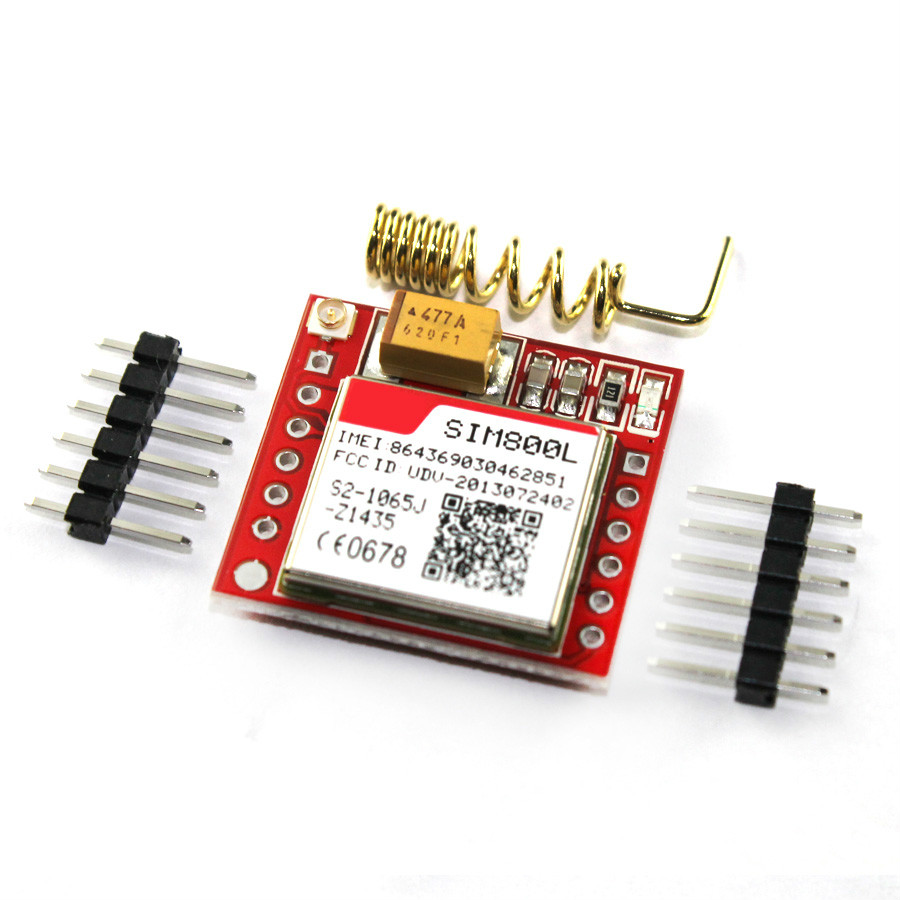 1pcs/lot Smallest SIM800L GPRS GSM Module Micro SIM Card Core BOard Quad-band TTL Serial Port smallest sim800l quad band network mini gprs gsm breakout module