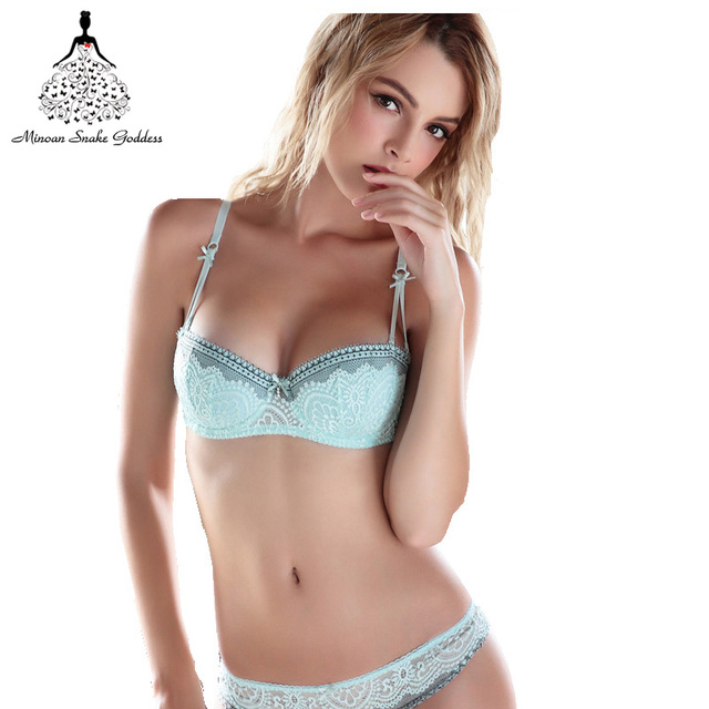 366643a3e3d US $10.18 48% OFF|Half Cup Ultra Thin Lace Sexy Bras Ladies Underwear  Embroidery Push Up Underwear Comfortable Girls Gather Adjust ABCDE Size-in  Bra & ...
