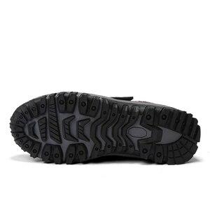 Image 5 - Stivali inverno caldo scarpe da Uomo di stile Russo di trasporto stivali da neve Della Caviglia per gli uomini in pelle scamosciata delle donne stivali di pelle con pelliccia di inverno scarpe stivali da uomo