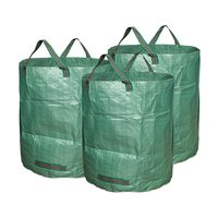 3Pcs/Set Green PE Plastic Potato Grow Bag Planter Garden Orchard Vegetables Greenhouse Planting Gardening Tools Accessories