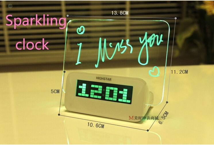 Special Presents For Her Part - 42: Digital Watch Electronic Alarm Clock Radio Digital Led Screen Usb Charging  Timer Special Gifts For Her ...
