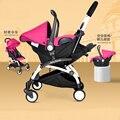 4 en 1 Cochecito de Bebé Portátil Bebé Silla de Seguridad Del Asiento de Coche Cesta Cuna Bebé Carro Cochecito Buggy para Viajar