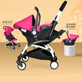 4 in 1 Portable Baby Stroller Infant Car Seat Safety Chair Basket  Baby Cradle Carriage Pram Buggy for Travelling