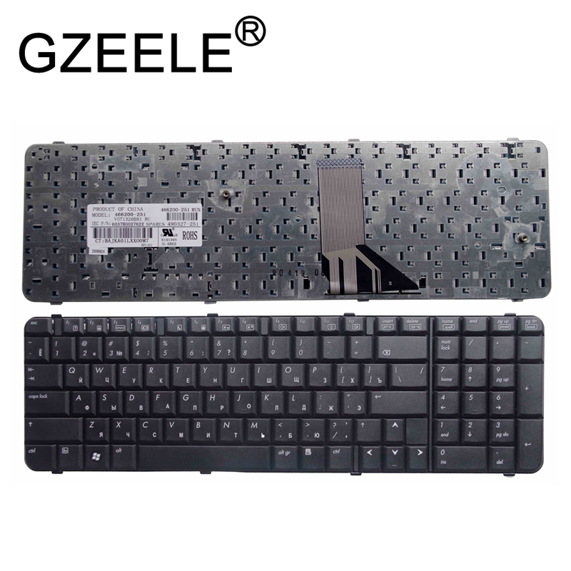 GZEELE Russian Laptop Keyboard For HP Compaq 6830 6830s V071326BS1 6037B0027622 466200-251 490327-251 RU Black