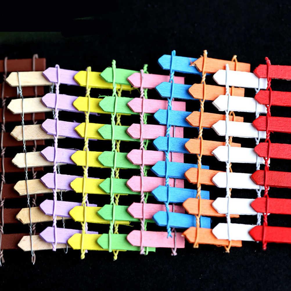 جديد 10 ألوان سياج الزينة للمنزل والحديقة Kawaii المنمنمات المبارزة الجنية حديقة غنوم موس المرابي الراتنج الحرف