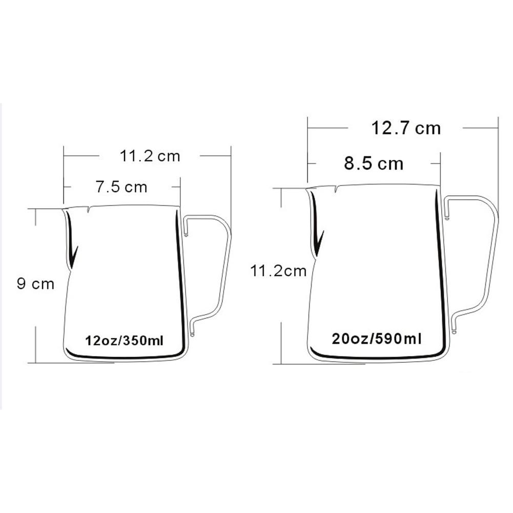 Frothing jug espresso coffee pitcher barista craft coffee latte milk 1 x coffee pitcher ccuart Gallery