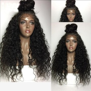 Image 2 - Fantasy Beauty 180% Heavy Density Water Wave Synthetic Lace Front Wig Heat Resistant Fiber Long Loose Curly Wigs For Women