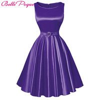 Belle Popue Pretty 50s 60s Vintage Dresses Summer Style Plus Size Womens Clothing Swing Party Rockabilly