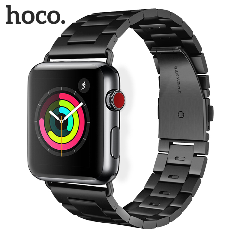 Original HOCO Stainless Steel Band for Apple Watch Band Series 4 3 2 1 Metal Replacement Strap for iWatch 40mm 44mm 38mm 42mm