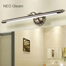 NEO gleam Европа Гримерное зеркало лампа старинные ванной Санузел зеркало с подсветкой led AC85-265V Американский вращающимся зеркалом лампа светильник