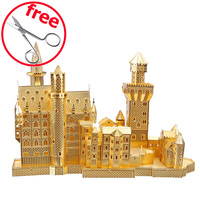 Neuschwanstein Castle P013G Piececool Metal Models DIY Educational 3D Puzzle Puzzle 3D Models Brinquedos Toys For