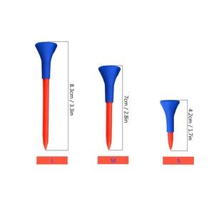 Image 5 - 5 個 83/70/42 ミリメートルプロフェッショナルマルチ色のプラスチックゴルフティーステップアッププラスチックゴルフホーンのティー進化 Tシャツゴルフツールアクセサリー