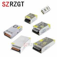 תאורת שנאי 1A 2A 3A 5A 10A 15A 20A 30A 40A 50A 110 265 v כדי 12 v LED נהג מתג ספק כוח מתאם עבור LED הרצועה