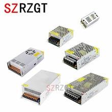 หลอดไฟ 1A 2A 3A 5A 10A 15A 20A 30A 40A 50A 110 265 โวลต์ถึง 12 โวลต์ LED ไดร์เวอร์อะแดปเตอร์แหล่งจ่ายไฟสวิทช์สำหรับไฟ LED strip
