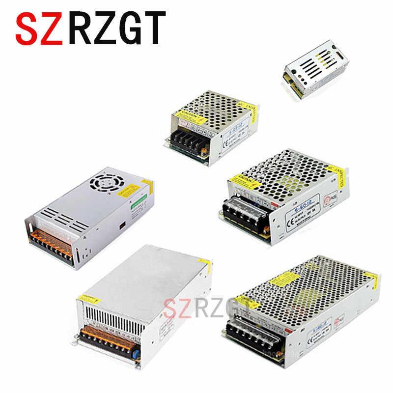 Transformator oświetleniowy 1A 2A 3A 5A 10A 15A 20A 30A 40A 50A 110-265V do 12V LED sterownik przełącznik adapter do zasilacza do taśmy LED