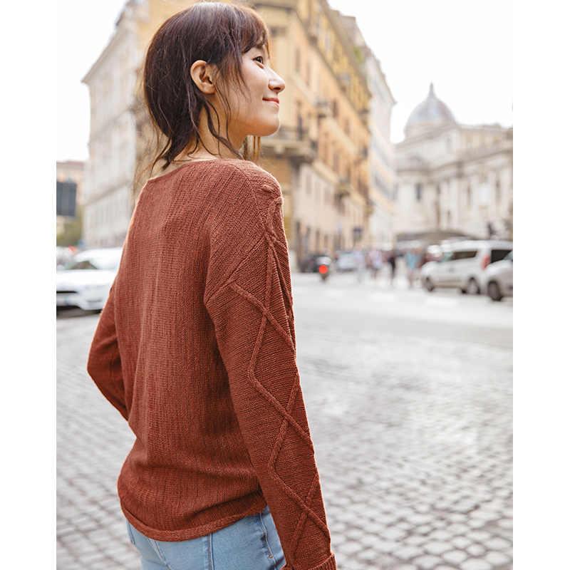 INMAN Frühling Frühling Herbst Frauen Weibliche Mädchen Grundlegende Strickwaren Mode Off Schulter Stil Dame Damen Kausalen Pullover Gestrickt Schweiß