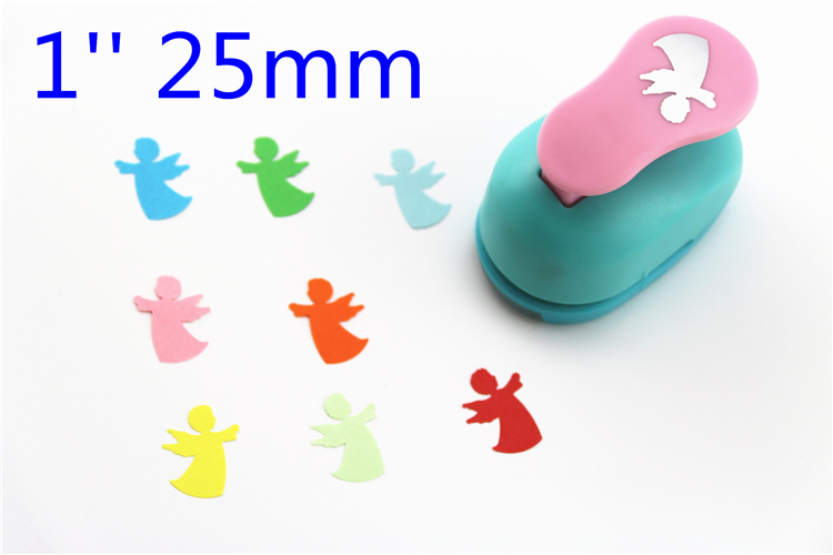 Free Ship 1'' (2.5cm) Angel Paper Cutter Scrapbooking Punches Hole Punch Eva Foam Punch Child Diy Craft Punch Scrapbook