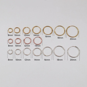 Golden/Gold color/Rose Gold color/Black/925 Sterling Silver Simple Ear Bone Hoop Earrings Mini Small Round Circle Earrings Hoops(China)