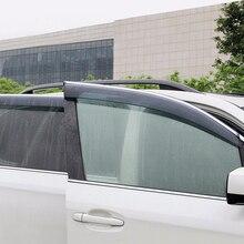 2013-2018 For Subaru Forester Exterior Window Visor Vent Shade Sun Rain Guard Protector Cover 4pcs car accessories