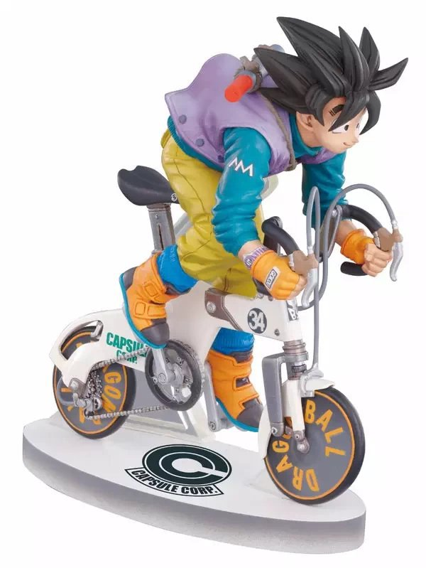 Dragon Ball Z Sun Gokou Riding Bicycle Action Figure PVC Collection figures toys for christmas gift brinquedos Free shipping hot anime vocaloid hatsune miku action figures pvc brinquedos collection figures toys kids birthday christmas gift free shipping