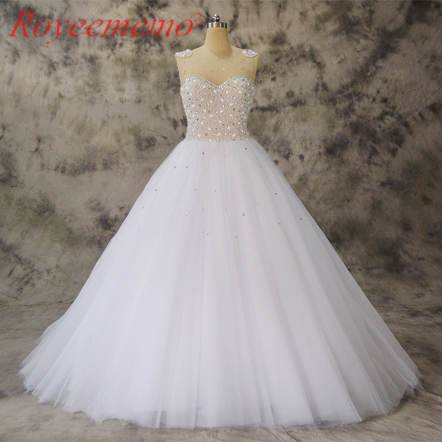 2019 новый дизайн полный бисер Топ Свадебные платья vestidos de novia индивидуальный заказ фабрики бальное платье