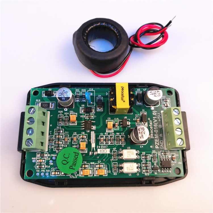 Compteur d'énergie numérique ca 80 ~ 260V 100A voltmètre ampèremètre tension courant testeur de puissance RS485 Modbus PC surveillance du logiciel