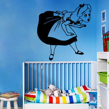 Vinyl Sticker Removable Wall Decal Alice In Wonderland Girls Room Bedroom Decor Wallpaper Princess Art Mural AY391