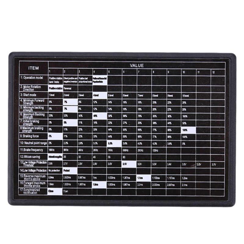 Programación programador tarjeta para coche Rc sin escobillas 60A controlador de velocidad electrónico Esc