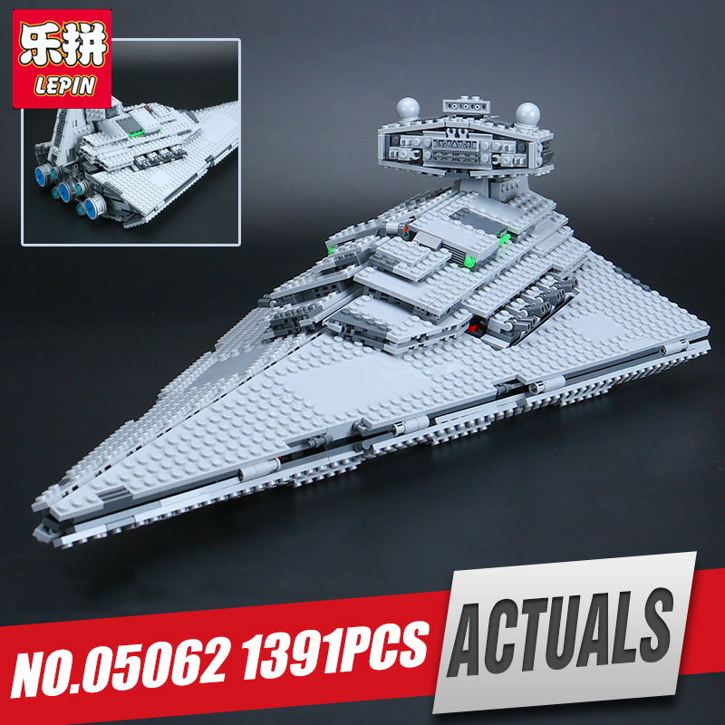 Lepin 05062 1359pcs Genuine Star Series The Star model Destroyer Set 75055 Building Blocks Bricks Educational Wars Toys for gift lepin 05028 3208pcs star wars building blocks imperial star destroyer model action bricks toys compatible legoed 75055