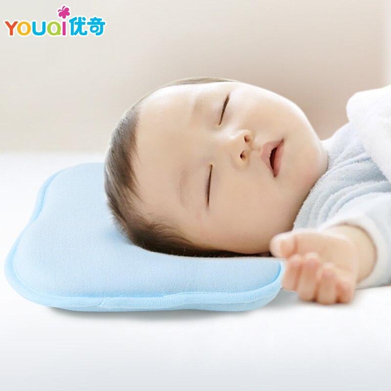 Comfortable /& Washable kid LANREN Newborns Infant Baby Sleep Anti Roll Pillow