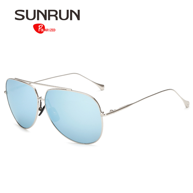 SUNRUN Sunglasses Polarized Men Over Sized Sun Glasses for Women Vintage Style Mirror Eyewear gafas de sol 1006