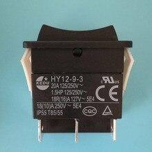 HY12 9 3 KEDU de 6 pines, 2 uds., botón de encendido y apagado, interruptores de botón para herramientas eléctricas 125/250V 18/20A