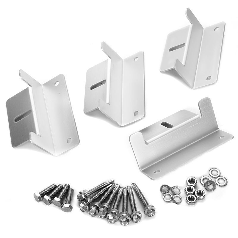 Image 3 - 1Set Solar Panel Z Style Aluminum Brackets Nuts Bolts And Washers For Mounting Solar Panels On Motorhomes Caravans Boats Roofs-in RV Parts & Accessories from Automobiles & Motorcycles