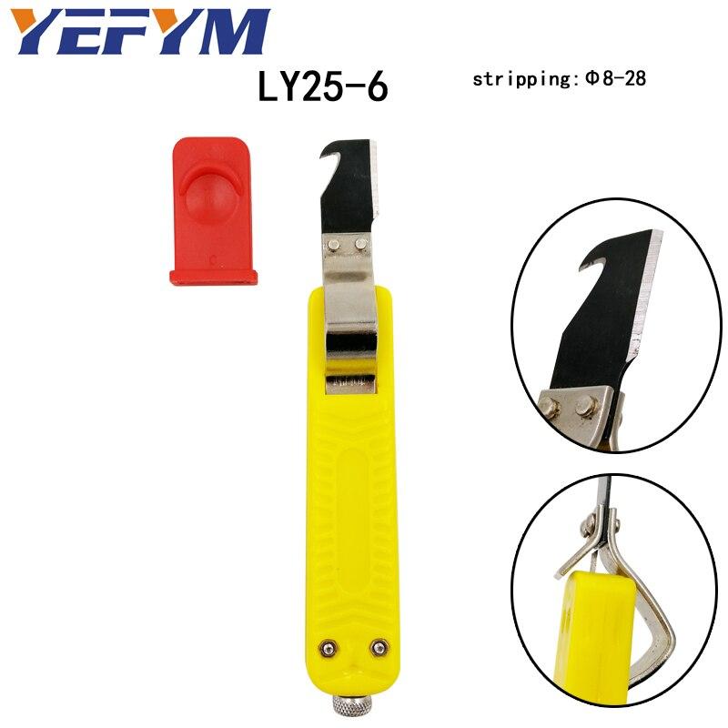 Ly25-6 Kabel Stripper Messer Deutsch Stil 440c Klinge Pvc Griff Strippen Der Umfang Der Durchmesser Von 8-28 Hand Werkzeuge Kunden Zuerst Handwerkzeuge