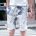 TG6256 Barato por atacado 2016 novo verão de Cinco minutos de calças shorts soltos dos homens praia calções de flores em linha reta