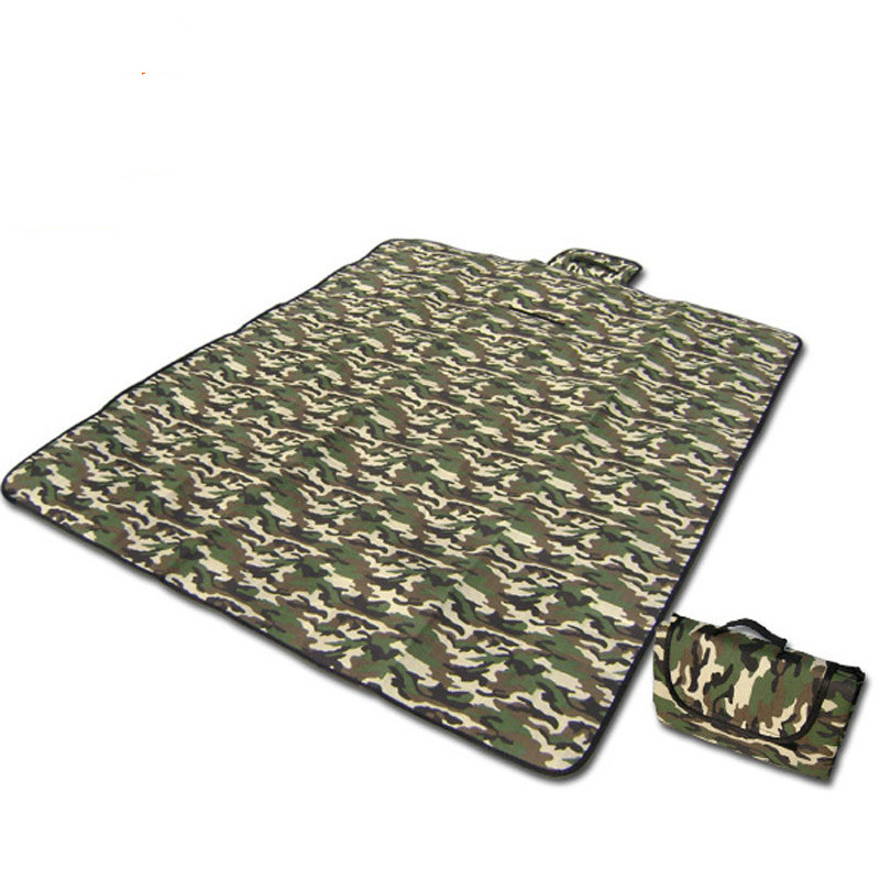 Camouflage picnic mat outdoor moisture cushion floor crawling tent mat beach mattress sleeping pad camping blanket waterproof