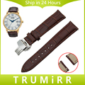 Relógio de couro genuíno banda butterfly fivela de liberação rápida cinta para citizen homens mulheres de pulso pulseira marrom preto 18mm 20mm 22mm