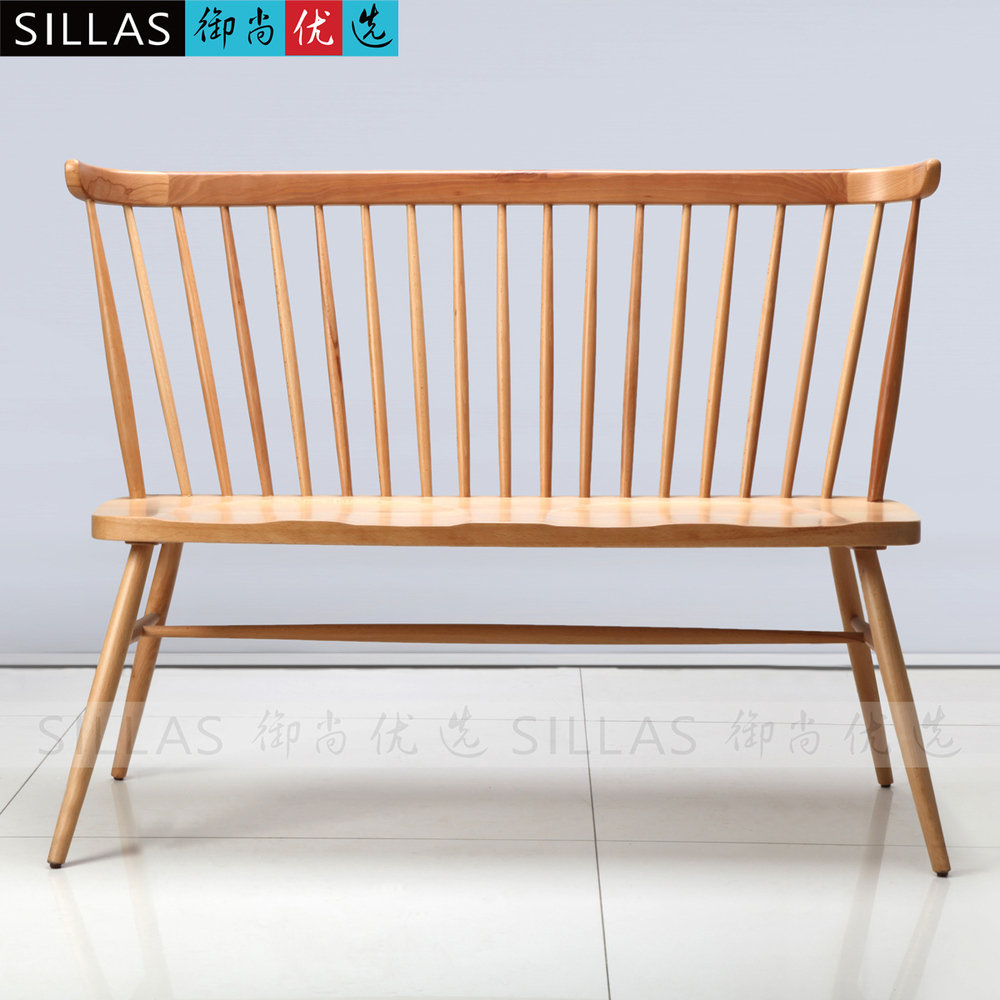 Chair wood chair scandinavian designer furniture wooden dining chairs -  Double Windsor Chair Wood Chair Scandinavian Designer Furniture Wooden Dining Chairs American Restaurant Cafe