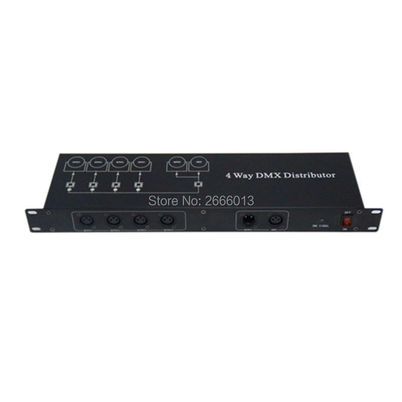 ФОТО 4 Channel Output DMX DMX512 LED Controller Signal Amplifier Splitter Distributor