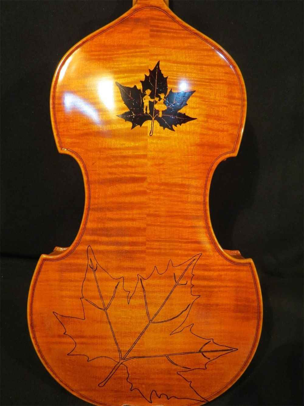 В стиле барокко песня маэстро инкрустированных кленовый лист 5 струны скрипки 4/4 # 9606