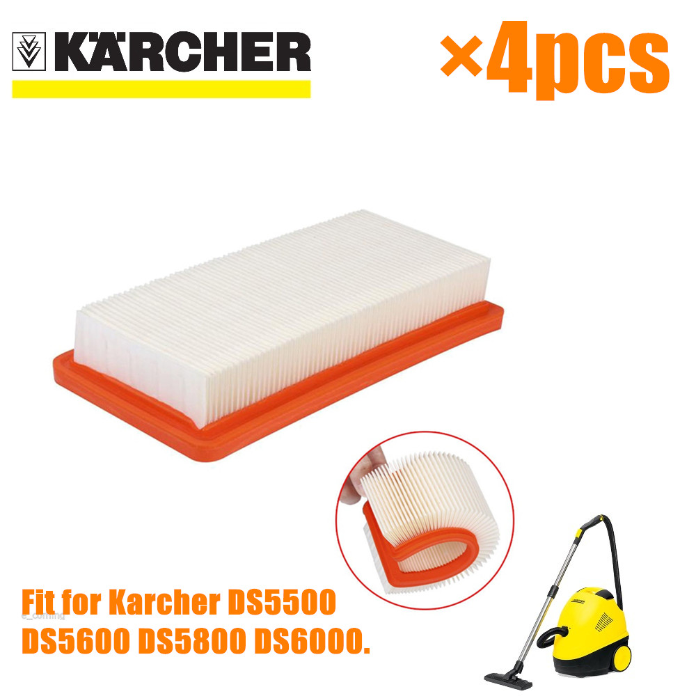 4 PCS Karcher HEPA Filter For DS5500 DS6000 DS5600 DS5800 Fine Quality Vacuum Cleaner Parts Karcher 6.414-631.0 Hepa Filters