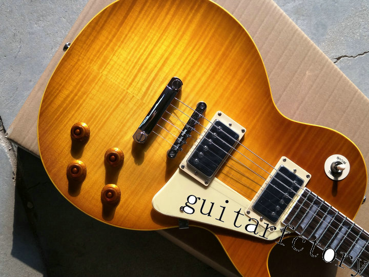 in Stock 1959 R9 honey Burst Les Chinese Paul LP Style Standard Electric Guitar with EMS Free Shipping in stock vicers slash afd electric guitar les chinese paul lp style standard electric guitar with good quality guitarra
